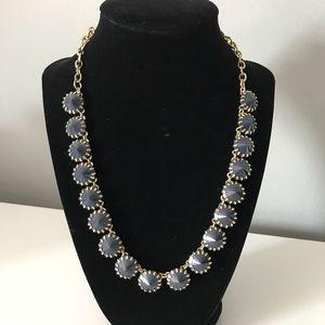 J crew Venus flytrap brass plated necklace